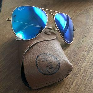 Ray-Ban 3025 Aviator Sunglasses 58/14 mirror blue